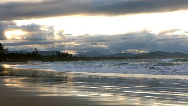Belongil Beach sunset - May 2013