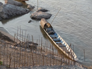 Laos - boat on the Mekong