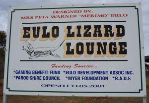 Eulo Lizard Lounge sign