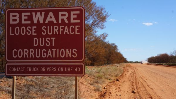 beware loose surface - Tanami