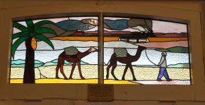 Marree Hotel - stain glass 1