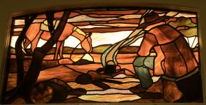 Marree Hotel - stained glass 3