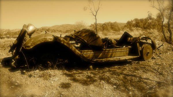 old car at Old Halls Creek