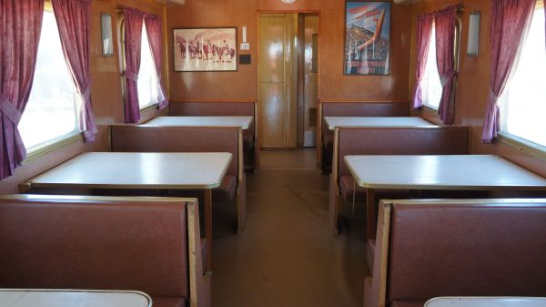 Old Ghan train interior 2
