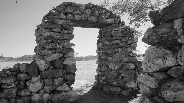 Old Halls Creek cemetery entrance