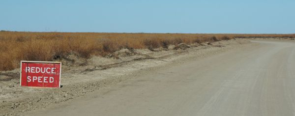 Reduce speed - Birdsville Track