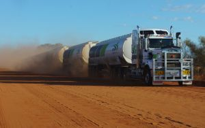 road train on the Tanami