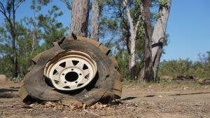 1 Aug - ripped tyre