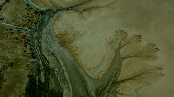 Derby sand flats landscape from air 1