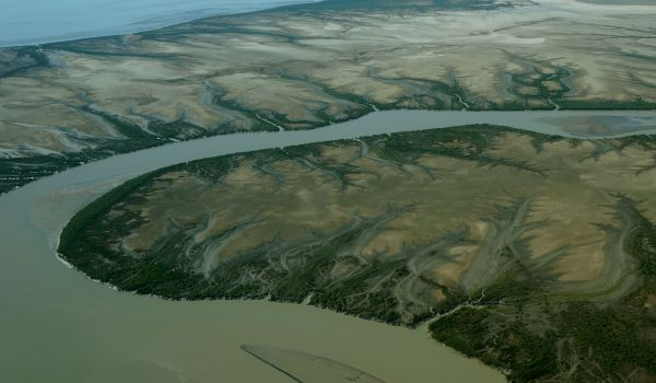 Derby sand flats landscape from air 2