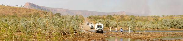 Pentecost River crossing panorama