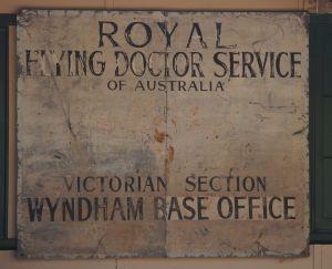 Wyndham - museum sign RFDS