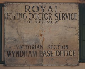 Wyndham - museum sign RFDS