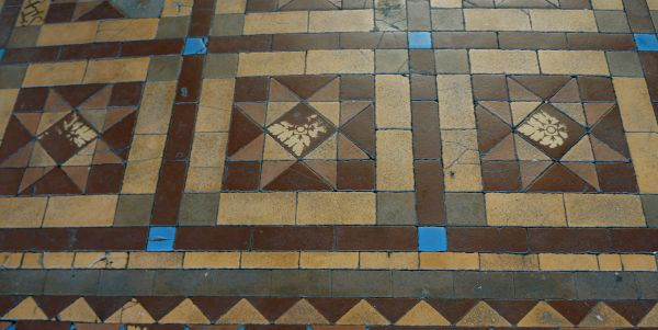 Stock Exchange building tiles