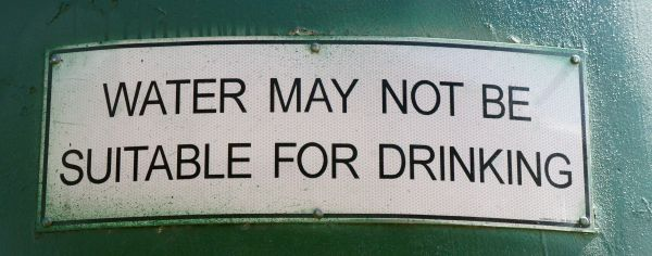 Water may not be suitable for drinking