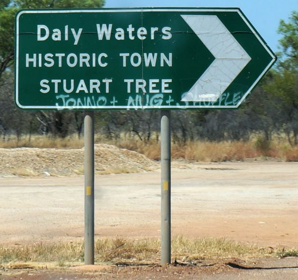 who was here - Daly Waters directional sign