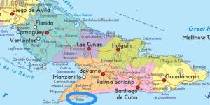 S E Cuba - ezilon.com map