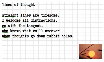 tanka - lines of thought