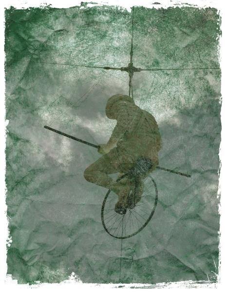 unicylist - public art - South Bank - Worn