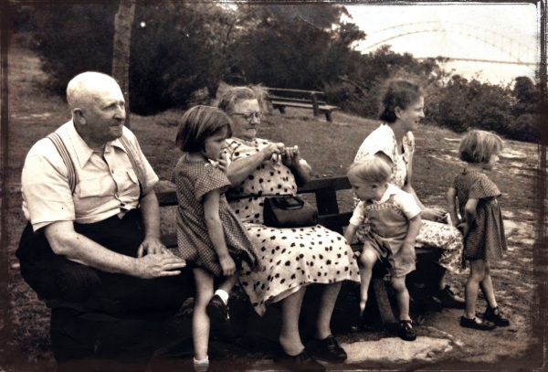 family group - Balls Head, Sydney c 1951