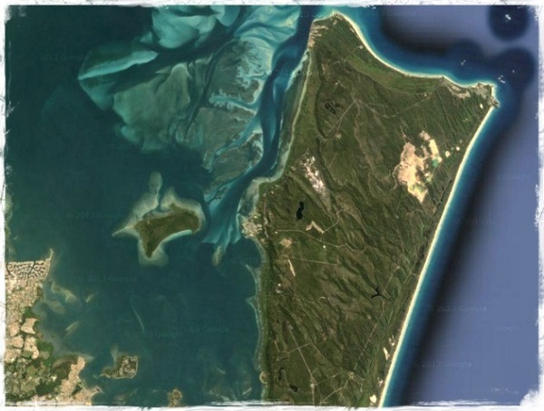 Stradbroke Island - Google Maps - FX Hue Yellow