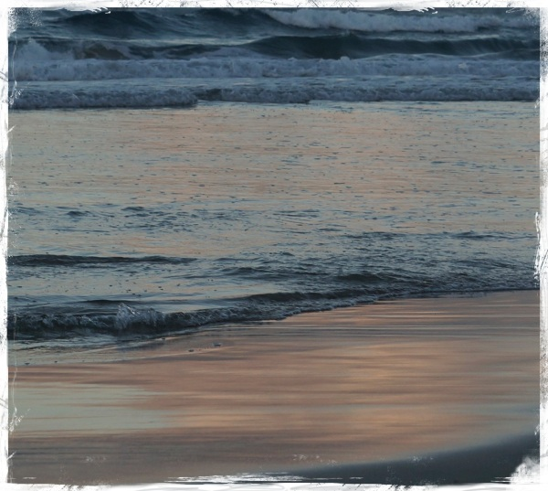 Stradbroke - twilight beach reflections