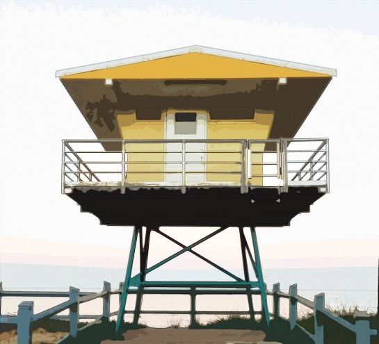 North Cronulla Beach - Comix Halftone