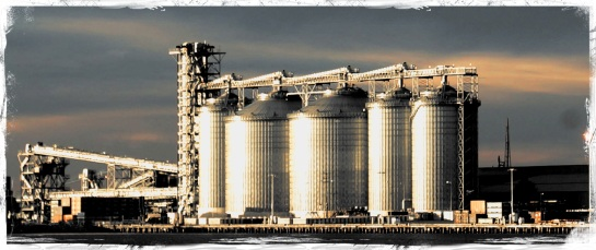 Grain silos - Newcastle Harbour