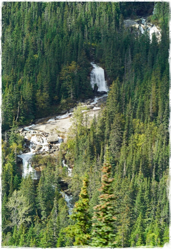 Bridal Veil Falls - White Cliffs Pass train