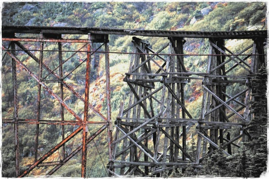 Cantilever bridge - White Pass railroad - 24 Sept 2014