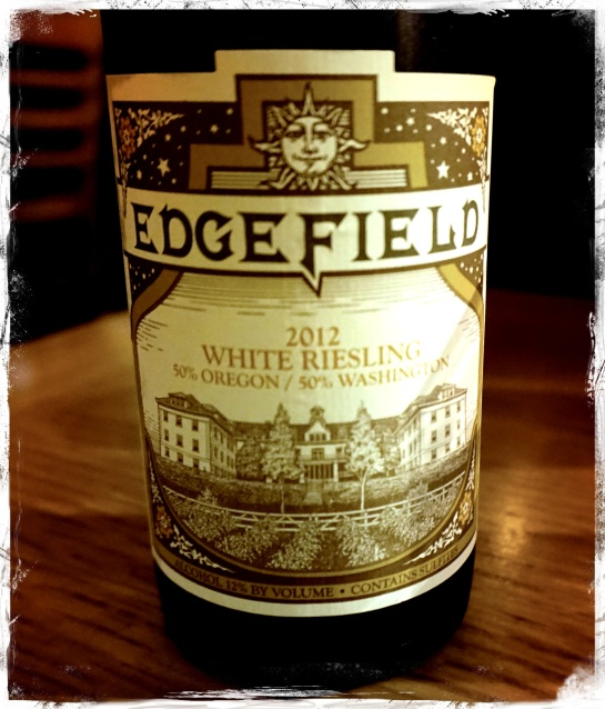 Edgefield White Riesling - Zeus Cafe - 18 Sept 2014