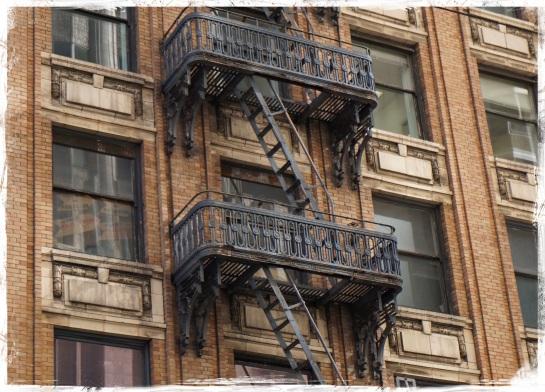Facade and fire escape 1 - San Francisco