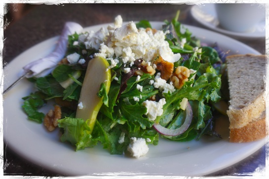 pear and goat cheese salad at Estela's Sandwich Shop Bush Street SF