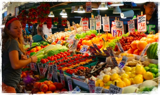 Pike Place Market - fruit stall - 21 Sep 2014