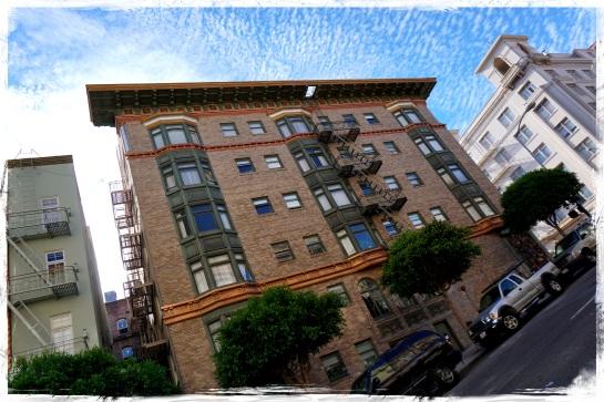 September San Francisco sky and hill climbs