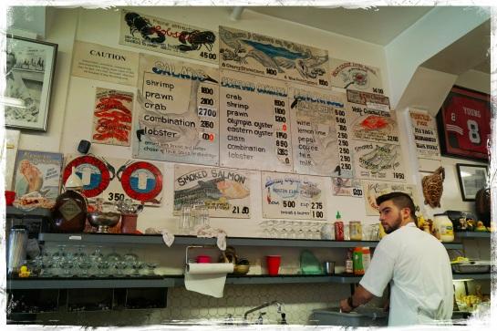 Swan Oyster Depot wall menu