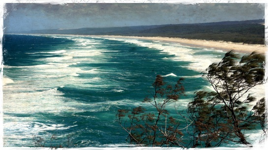 Windy day - Main Beach Stradbroke Island 6 Sept 2014