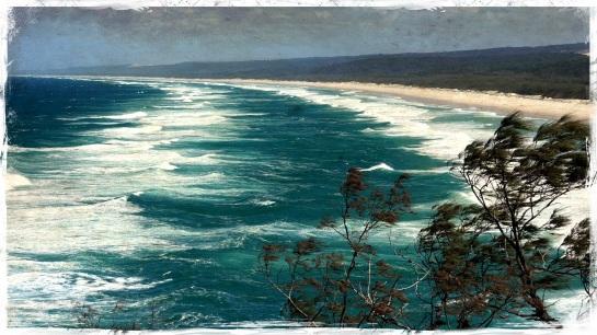 Windy day - Main Beach Stradbroke Island 6 Sept 2014