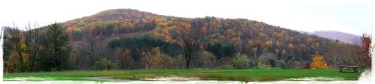 Autumn hills surrounding The Clark Art Institute