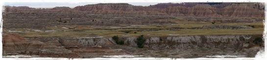 Badlands landscape 3