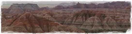 Badlands landscape 5