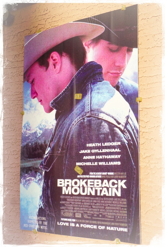 Brokeback Mountain poster at Red Coat Inn Fort Macleod