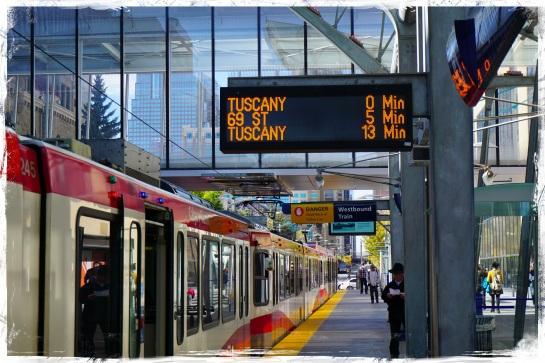 City Hall C-Train station - Calgary