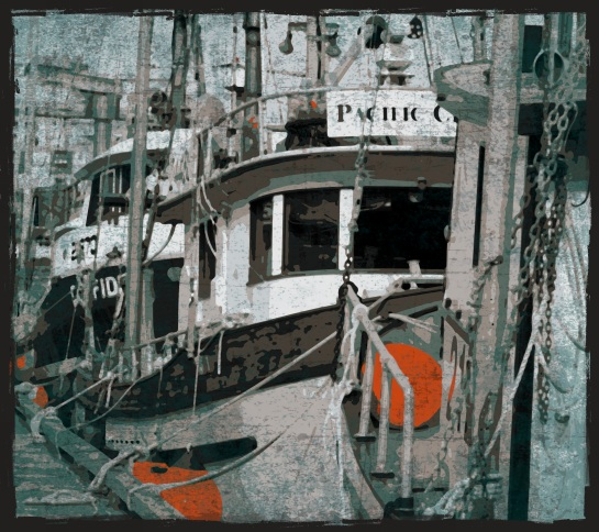 fishing trawlers - Victoria BC - Pop Grunge effects