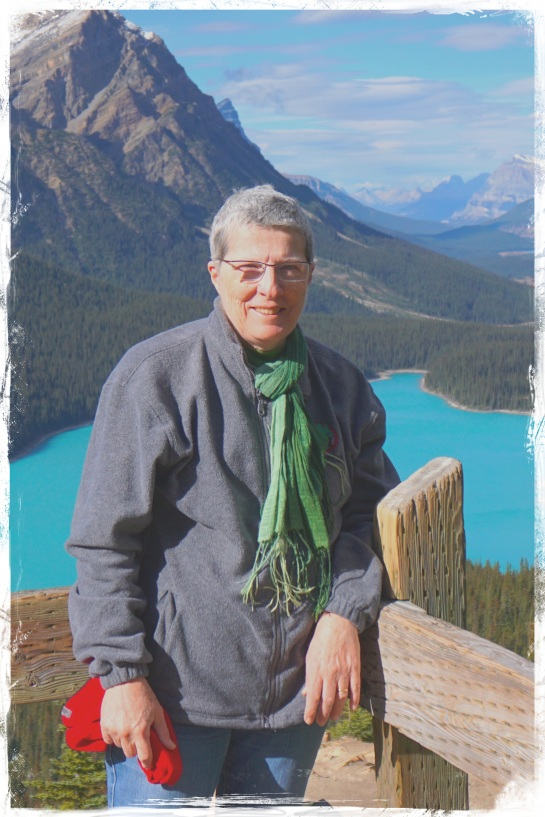 Lynn at Lake Peyto - 6 Oct 2014