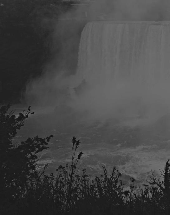 Niagara Falls 2 - Vintage Grayscale