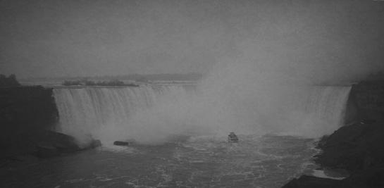 Niagara Falls 9 - Vintage Grayscale