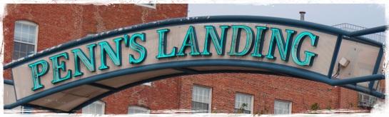 Penn's Landing sign