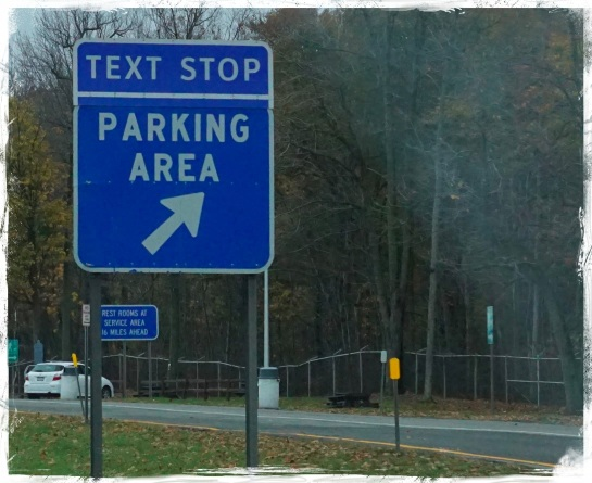 Text stop on Highway - NY State