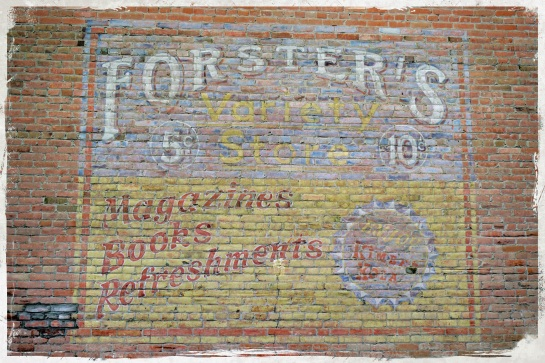 Wall advertising - Fort Macleod